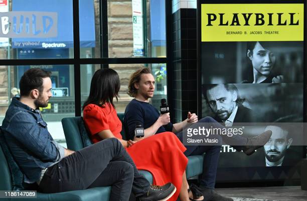 Cast members Charlie Cox Zawe Ashton and Tom Hiddleston visit Build Series to discuss their Broadway debut at Betrayal at Build Studio on November 07...