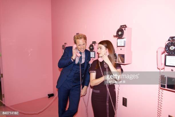 Cast members Chris Geere and Aya Cash attend the Premiere Of FXX's You're The Worst Season 4After Party on August 29 2017 in Los Angeles California
