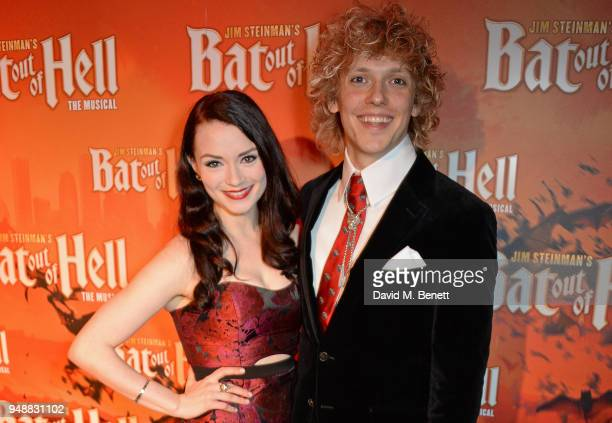 Cast members Christina Bennington and Andrew Polec attend the Gala Night after party for 'Bat Out Of Hell The Musical' at the Bloomsbury Ballroom on...