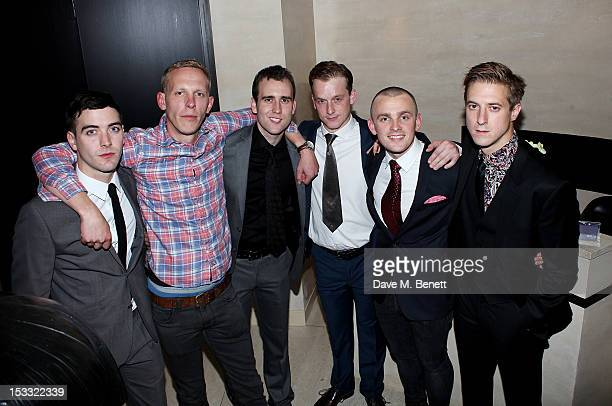 Cast members Cian Barry Laurence Fox Matthew Lewis Jolyon Coy Lewis Reeves and Arthur Darvill attend an after party celebrating the press night...