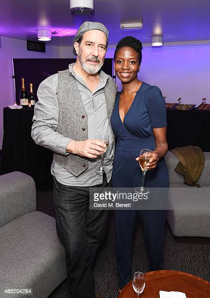 Cast members Ciaran Hinds and Diveen Henry attend an after party following the press night performance of 'Hamlet' at the Barbican Centre on August...