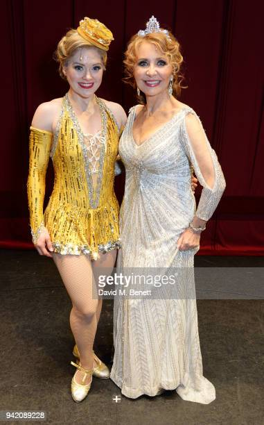 Cast members Clare Halse and Lulu attend the '42nd Street' 1st Anniversary Gala Performance featuring new cast member Lulu at the Theatre Royal Drury...
