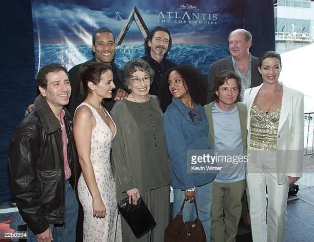 Cast members Corey Burton Jacqueline Obradors Florence Stanley Cree Summer Michael J Fox Claudia Christian and Phil Morris Don Novello and David...