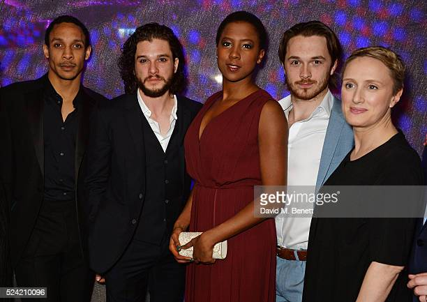 "Cast members Craig Stein, Kit Harington, Jade Anouka, Garmon Rhys and Jenna Russell attend the Gala Night performance of ""Doctor Faustus"" at The..."