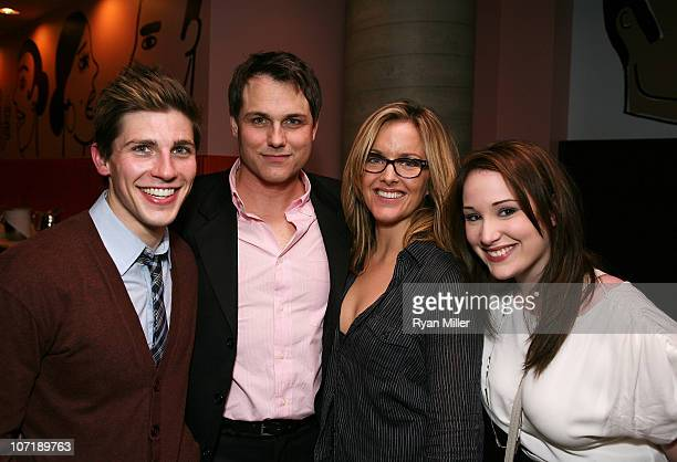 Cast members Curt Hansen Asa Somers Alice Ripley and Emma Hunton pose during the party for the opening night launch of the National Tour of Next to...
