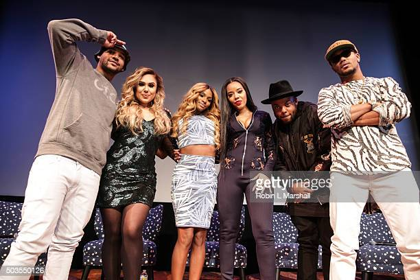 "Cast members Damon ""Boogie"" Dash, Kristinia DeBarge, Egypt Criss, Angela Simmons, TJ Mizell and Romeo Miller attend ""Growing Up Hip Hop"" Atlanta..."