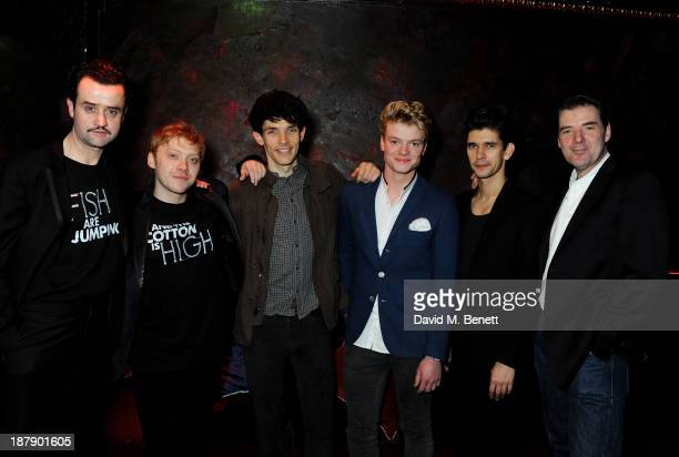 Cast members Daniel Mays Rupert Grint Colin Morgan Tom Rhys Harries Ben Whishaw and Brendan Coyle attend an after party celebrating the press night...