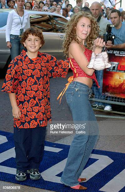Cast members Daryl Sabara and Alexa Vega arrive at the premiere of Spy Kids 2 Island of Lost Dreams at the Odeon West End