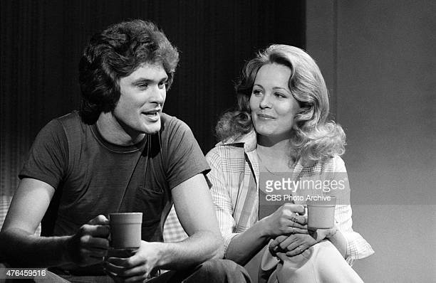 RESTLESS cast members David Hasselhoff as William 'Snapper' Foster Jr with Trish Stewart as Chris Brooks Foster Image Dated March 29 1977
