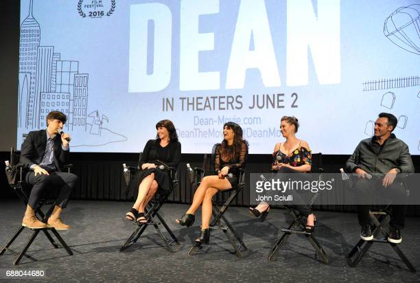 Cast members Demetri Martin Mary Steenburgen Ginger Gonzaga Briga Heelan and Reid Scott attends CBS Films Special Screening of DEAN at the ArcLight...
