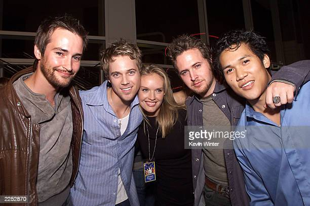 Cast members Derek Hamilton Ryan Browning Cassidy Rae AJ Buckley and Dante Basco at the premiere of Extreme Days at The Bridge Theater in Los Angeles...