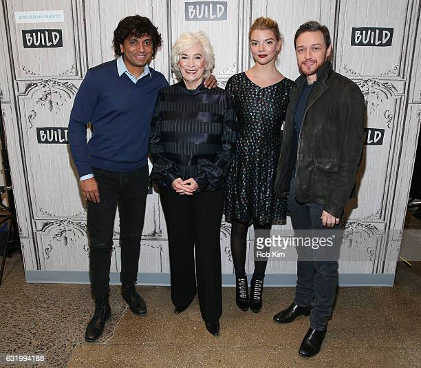 Cast members director M Night Shyamalan Betty Buckley Anya TaylorJoy and James McAvoy attend the Build Series at Build Studio on January 18 2017 in...