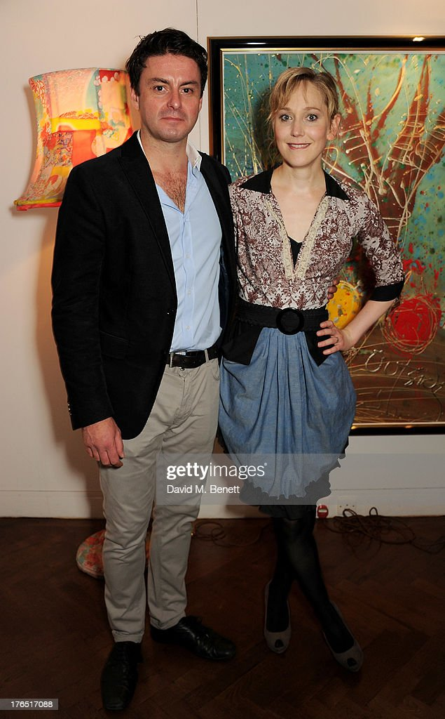 Cast members Dominic Rowan (L) and Hattie Morahan attend an after party following the press night performance of 'A Doll's House' at The Hospital Club on August 14, 2013 in London, England.