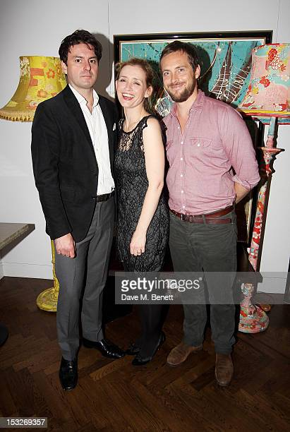 Cast members Dominic Rowan AnneMarie Duff and Stephen Campbell Moore attend an after party following the press night performance of the Donmar's...