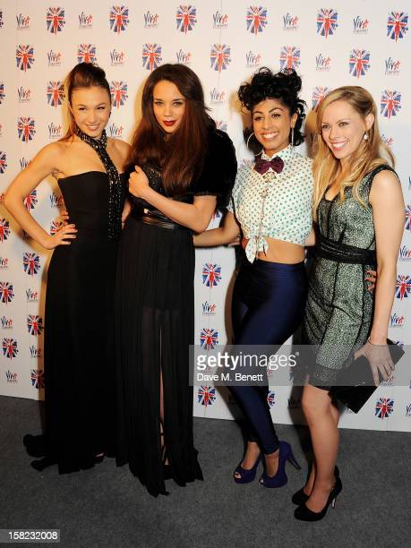 Cast members Dominique ProvostChalkley Hannah JohnKamen Siobhan Athwal and Lucy Phelps attend an after party celebrating the Gala Press Night...