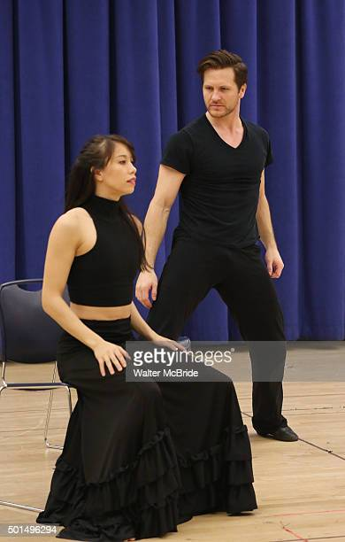 Cast members during the the press preview of 'American Dance Machine for the TwentyFirst Century' at The New 42nd Street Studios on December 15 2015...