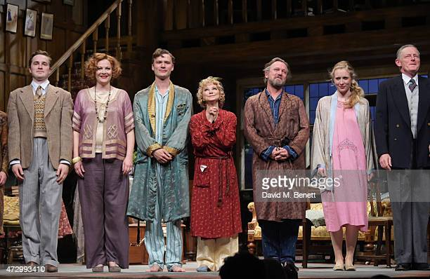 Cast members Edward Killingback, Sara Stewart, Edward Franklin, Felicity Kendal, Simon Shepherd, Alice Orr-Ewing and Michael Simkins bow at the...