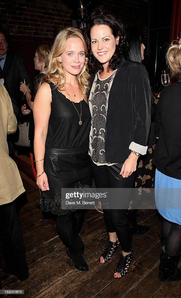 Cast members Ellie Beaven (L) and Leah Whitaker attend an after party following the press night performance of 'Charley's Aunt' at Menier Chocolate Factory on October 1, 2012 in London, England.