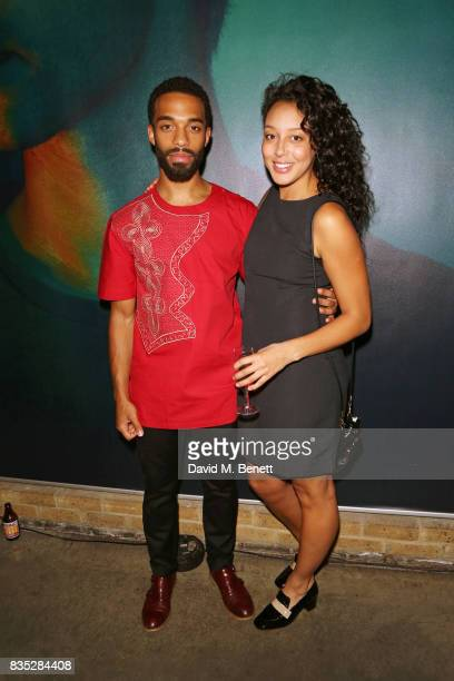 Cast members Elliot BarnesWorrell and Adelle Leonce attend the press night after party for Against at The Almeida Theatre on August 18 2017 in London...