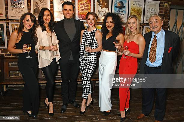 Cast members Emma Caffrey Kelly Homewood Darius Campbell Sammy Kelly Joelle Dyson Rebecca Fennelly and Bruce Montague attend the press night after...