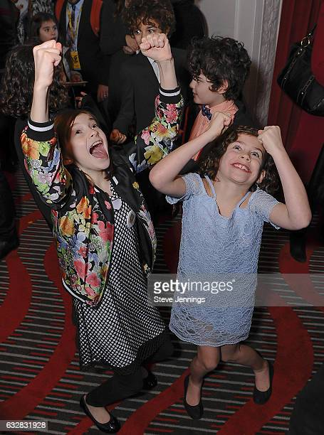 Cast members enjoy the after party at the ReOpening of the Curran Theater with the Tony Award Winning Best Musical Fun Home on January 26 2017 in San...