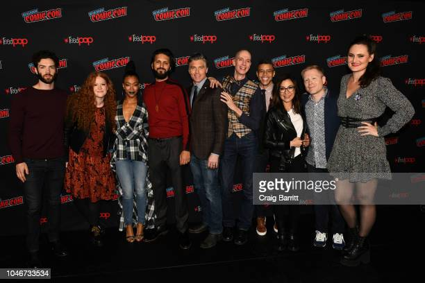Cast members Ethan Peck Mary Wiseman Sonequa MartinGreen Shazad Latif Anson Mount Doug Jones Wilson Cruz Michelle Yeoh Anthony Rapp and Mary Chieffo...