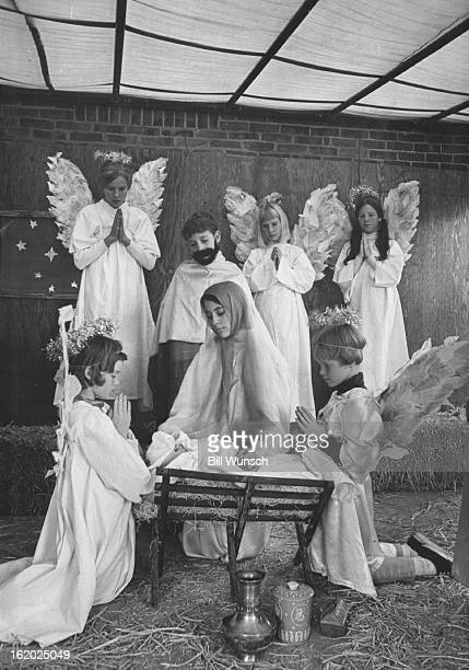DEC 7 1968 DEC 11 1968 DEC 15 1968 Cast members for Christmas pantomime are from left front Cathy Thompson Laurie Hawley Julie Stevenson from left...