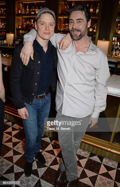 Cast members Freddie Fox and Nathaniel Parker attend the press night after party for 'An Ideal Husband' at the Smith Wollensky on May 3 2018 in...