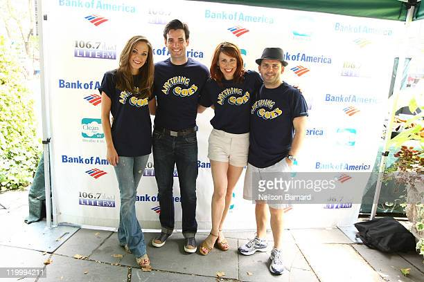 """Cast members from """"Anything Goes"""" Laura Osnes, Colin Donnell, Tari Kelly and Robert Creighton attend the 106.7 Lite FM Presents Broadway performance..."""