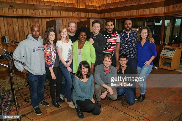 Cast members from 'In Transit' Chesney Snow Margo Seibert Erin Mackey David Abeles Moya Angela Justin Guarini Steven 'HeaveN' Cantor Nicholas Ward...