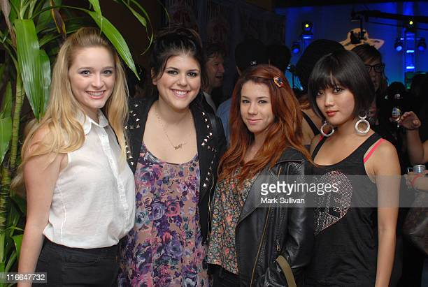 """Cast members from MTV's """"Awkward"""" Actors Greer Grammer, Molly Tarlov, Jillian Rose Reed and Jessica Lu attend the Hype launch party held at Village..."""