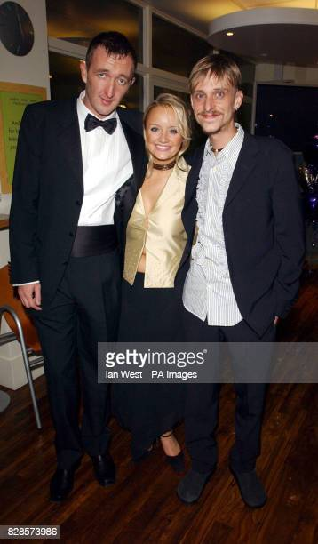 Cast members from The Office Ralph Ineson Lucy Davis and Mackenzie Crook arrive for the British Comedy Awards 2002 at London Weekend Television...