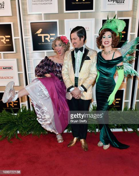 Cast members from the show 'Absinthe' Wanda the Gazillionaire and the Green Fairy attend Imagine Dragons' fifth annual Tyler Robinson Foundation Rise...