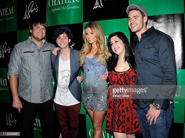 Cast members from the television show 'The Hard Times of RJ Berger' Jareb Dauplaise Paul Iacono Amber Lancaster Kara Taitz and Jayson Blair arrive at...