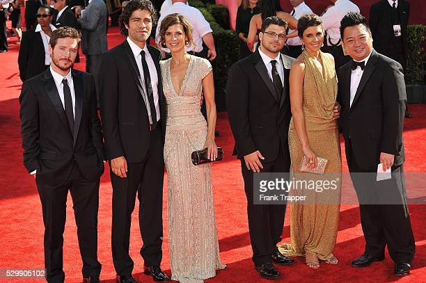 Cast members from the TV show Entourage actors Kevin Connolly Adrian Grenier Perrey Reeves Jerry Ferrara JamieLynn Sigler and Rex Lee arrive at the...