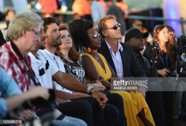 Cast members from The Tyler Perry Show including Aaron O'Connell Renee Lawless and Crystal R Fox attend A People's Tribute to the Queen an Aretha...
