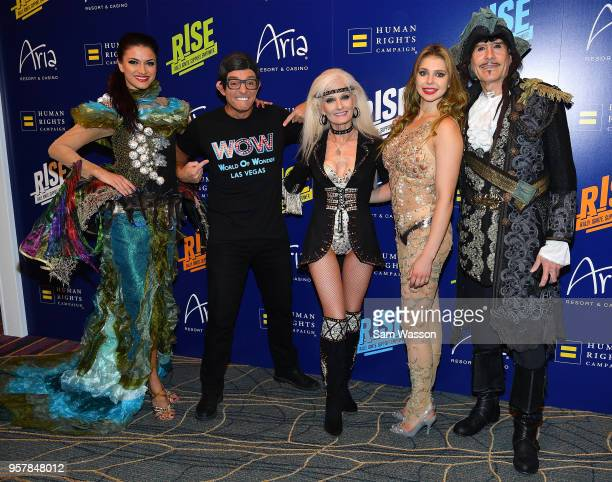 Cast members from 'WOW World of Wonder' attend the Human Rights Campaign's 13th annual Las Vegas Gala at the Aria Resort Casino on May 12 2018 in Las...