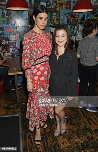 Cast members Gala Gordon and Adrianna Bertola attend the press night after party for 'Blueberry Toast' at the Soho Theatre on May 30 2018 in London...