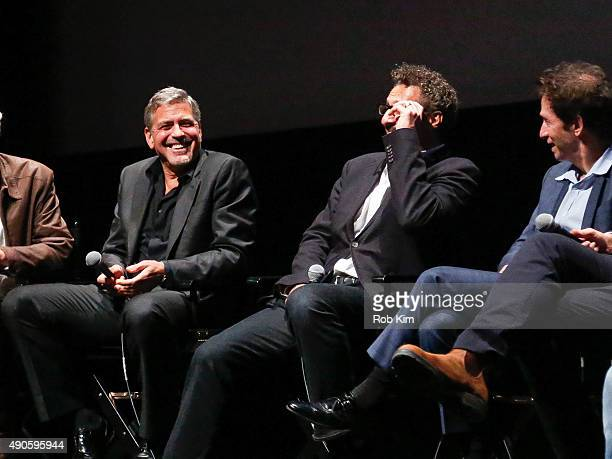 Cast members George Clooney John Turturro and Tim Blake Nelson attend the QA for O Brother Where Art Thou 15th Anniversary Screening during 53rd New...
