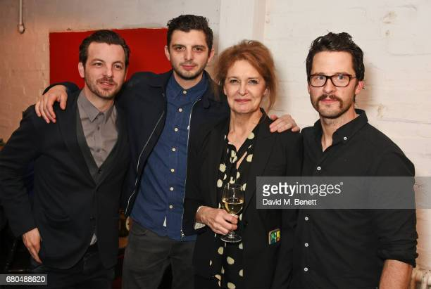 Cast members Gethin Anthony Michael Fox Kate Fahy and Robert Lonsdale attend the press night after party for A Lie Of The Mind at The Southwark...