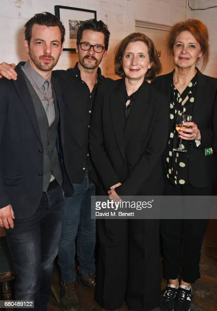Cast members Gethin Anthony Robert Lonsdale Nancy Crane and Kate Fahy attend the press night after party for A Lie Of The Mind at The Southwark...