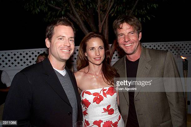 Cast members Greg Kinnear, Andie MacDowell and Dennis Quaid at the after-party for HBO's special screening of 'Dinner With Friends' at Club Colette...