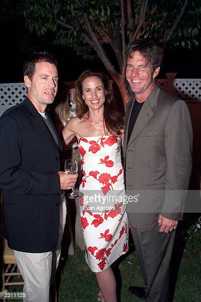Cast members Greg Kinnear Andie MacDowell and Dennis Quaid at the afterparty for HBO's special screening of Dinner With Friends at Club Colette in...