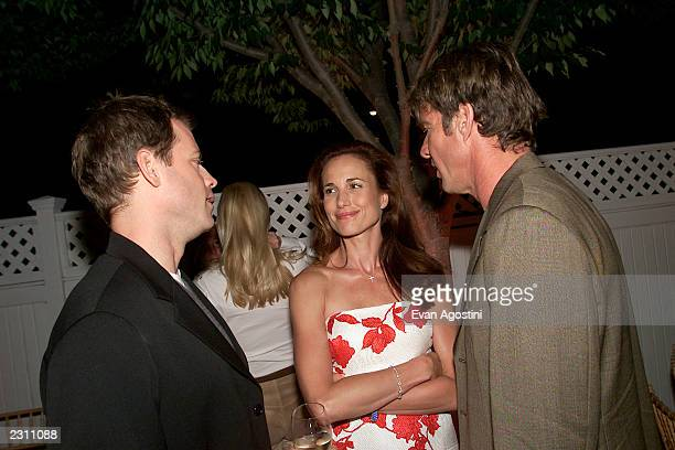 Cast members Greg Kinnear, Andie MacDowell and Dennis Quaid chat at the after-party for HBO's special screening of 'Dinner With Friends' at Club...