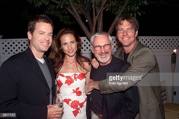 Cast members Greg Kinnear Andie MacDowell and Dennis Quaid with Director Norman Jewison at the afterparty for HBO's special screening of Dinner With...