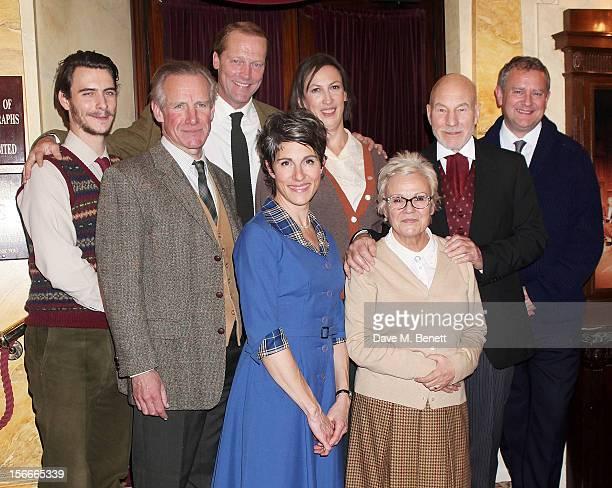 Cast members Harry Lloyd, Nicholas Farrell, Iain Glen, Tamsin Greig, Miranda Hart, Julie Walters, Sir Patrick Stewart and Hugh Bonneville pose...