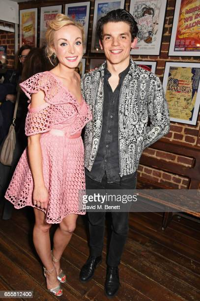 Cast members Helen George and Edward Bluemel attend the press night performance of 'Love in Idleness' at the Menier Chocolate Factory on March 20...