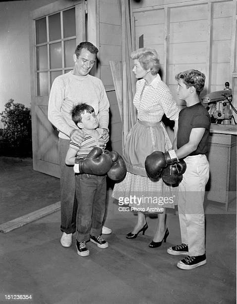 Hugh Beaumont as Ward Cleaver Jerry Mathers as Beaver Cleaver Barbara Billingsley as June Cleaver and Tony Dow as Wally Cleaver Episode The Black Eye...