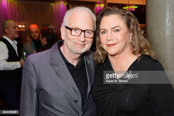 """Cast members Ian McDiarmid and Kathleen Turner attend an after party following the press night performance of """"Bakersfield Mist"""" at the Trafalgar..."""
