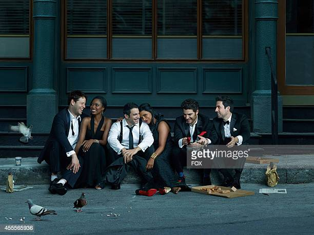 Cast members Ike Barinholtz, Xosha Roquemore, Chris Messina, Mindy Kaling, Adam Pally and Ed Weeks. The third season of THE MINDY PROJECT premieres...